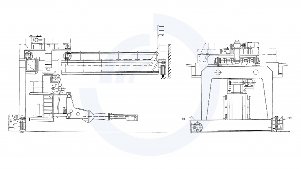 Charging crane (overall drawing)